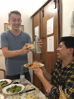 study abroad experience of Italian cooking